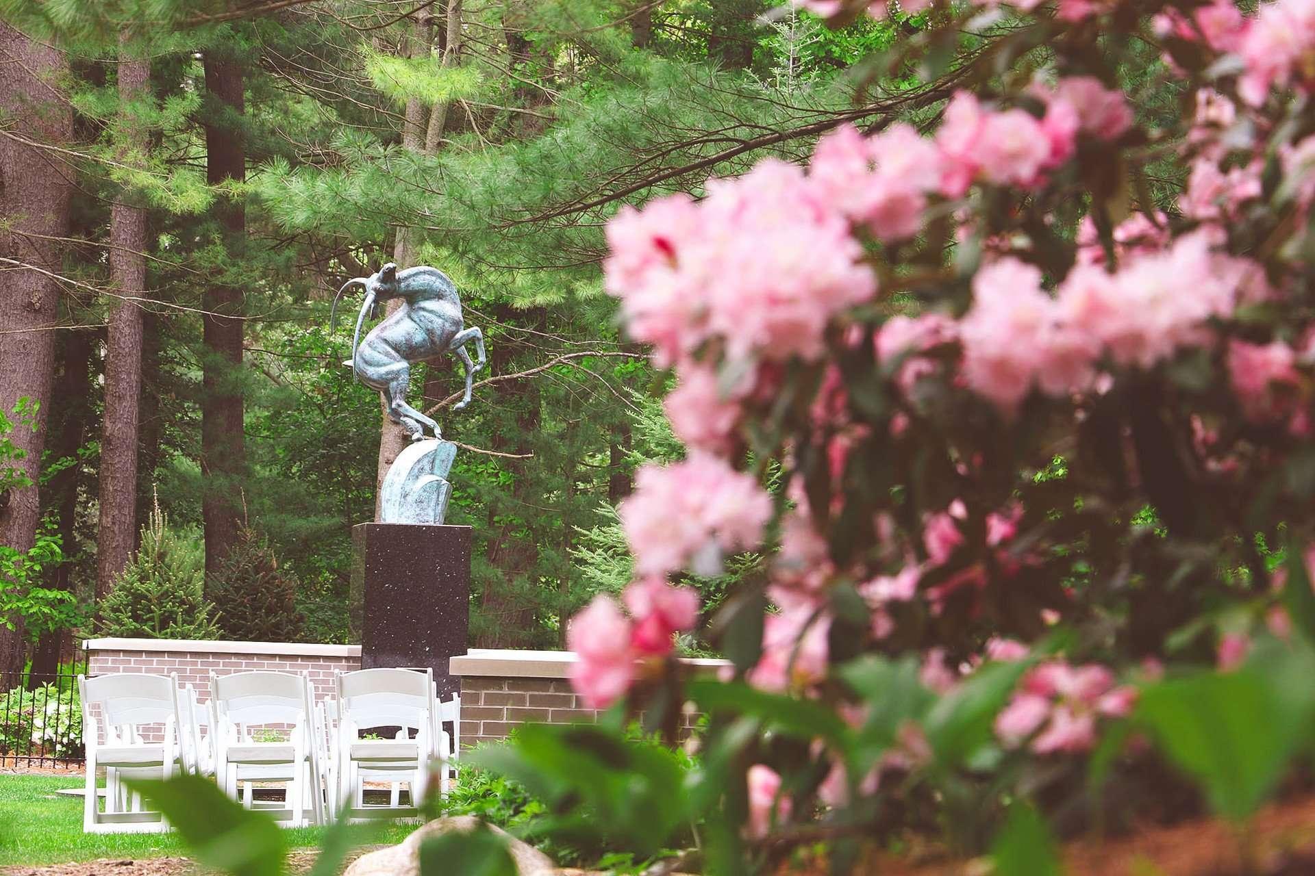 Gazelle statue at Dow Gardens